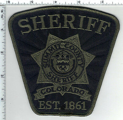 Summit County Sheriff (Colorado) Camo Shoulder Patch from the 1980's
