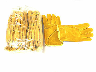 P/K OF 12 pair x Size MEDIUM SUEDE LEATHER GLOVE (Brand new)
