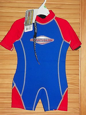 Ocean Pacific Kids Size 5 Wetsuit Shorty Swimsuit UVA & UVB protection NWT