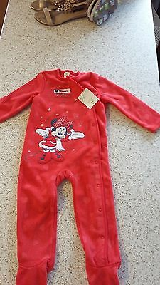 baby girls minnie mouse disney sleep suit 12 18 months bnwt