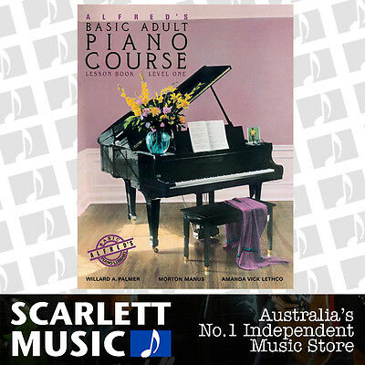 Alfred's Basic Adult Piano Course: Lesson Book 1 (One / First) Alfreds Bk *NEW*