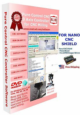 Arduino Nano CNC Shield Pure Control Easy to Use and Friendly Software