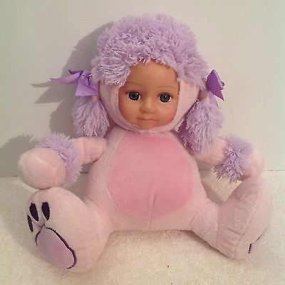 Tamarr Sitting Poodle Puppy Baby Doll Soft Toy 26cm Tall VGC
