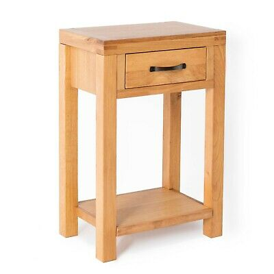 Abbey Waxed Oak Hall Table / Telephone Table / Solid Wood Small Console / New