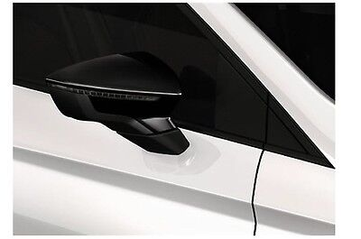 Genuine SEAT Ibiza 2017on Door Mirror Covers 2x - Black 6F0 072 530 041