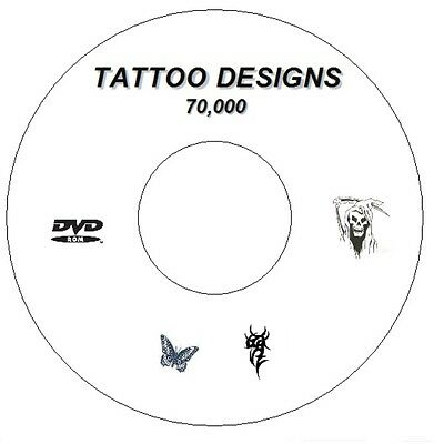 70,000 + Flash Designs & Tattoo Books Tribal,japanese,demons, Butterfly Cd / Dvd