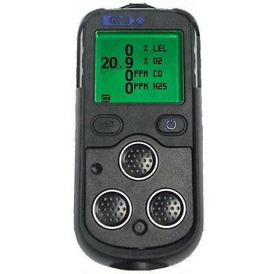 GMI PS200 gas detector H2S O2 CH4(LEL) CO c/w charger - PUMPED