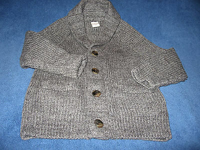 BABY GAP~ 2T~ Toddler ~Boys~Button Front Gray Sweater~Very Good Condition