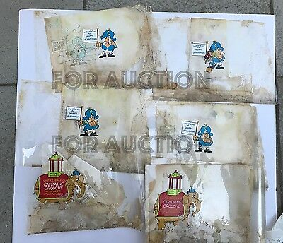 1960s-70s Jay Ward Cap'n Crunch Smedly cereal animation art cel Quisp