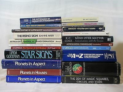 21 Piece Astrology Book Lot Planets Stars Cosmology Pelletier Pickover Etc