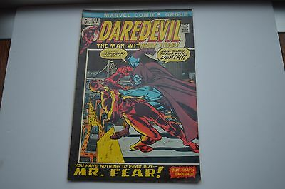 Marvel Daredevil  Comic no 91 Sept 1972 BLACK WIDOW ZOLTAN DRAGO MR.FEAR