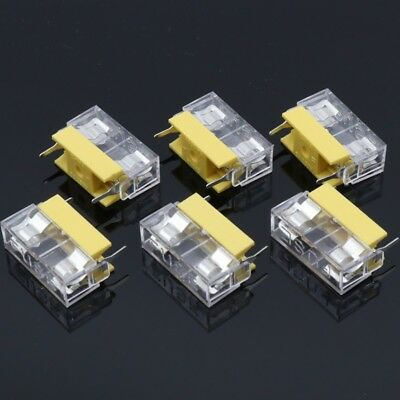 "5x PCB Mounted 5x20mm Glass Fuse Holders Fast Blow Case Clear Lid Cover 7/8"" AGW"