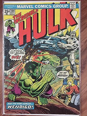 Incredible Hulk #180 Bronze Age 1st Wolverine MARVEL with stamp