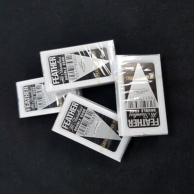 20 pcs. Feather hi-stainless platinum double edge razor blades Made in Japan