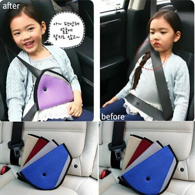 Comfortable Seat Belt Adjuster Car Child Safety Cover Harness Triangle Pad UK