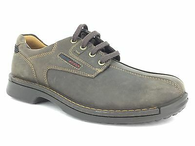 ECCO Men's Leather Shoes In Brown Size 41
