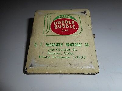 Vintage Fleer Dubble Bubble Gum Paper Clip Denver, Colorado