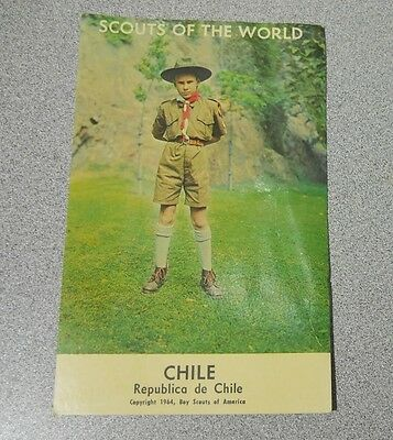 Vintage 1964 - BOY SCOUTS OF THE WORLD Post Card CHILE