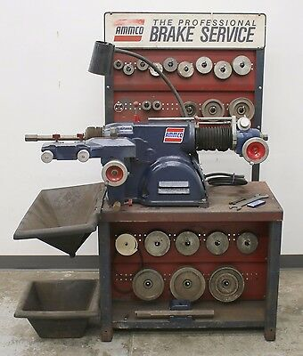 Used Ammco 4000B Disc and Drum Brake Lathe w/ Stand & Loaded With Adapters