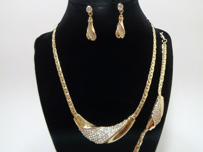 Jewelry-Set-Necklacet+Earring+Bracelet-GOLD/CRY-Bridal_Fashion
