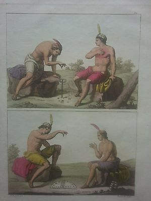 Chile Santiago Ferrario. First edition 1816 game of Beans