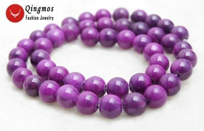 8mm Purple Round Sugilite Loose Beads for Jewelry Making DIY Strand 15'' los765