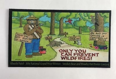 """NEW Smokey The Bear Only You Can Prevent Wildfires Magnet 4"""" x 2-1/4"""" 2016"""