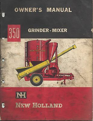 Sperry New Holland Operator's Manual Grinder-Mixer 350