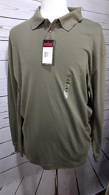 Mens Architect Long Sleeve Polo Shirt-Green sz XXL 2XL Brand New with Tags