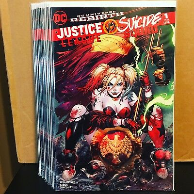JUSTICE LEAGUE vs SUICIDE SQUAD #1  EXCLUSIVE TYLER KIRKHAM COLOR VARIANT Harley