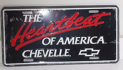 The Heartbeat Of America Chevelle Alum License Plate Made Usa Chevrolet Chevy Ss