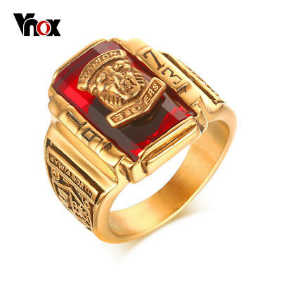 Vnox Vintage Male Ring for Men Jewelry 1973 Walton Tiger High School Stainles...