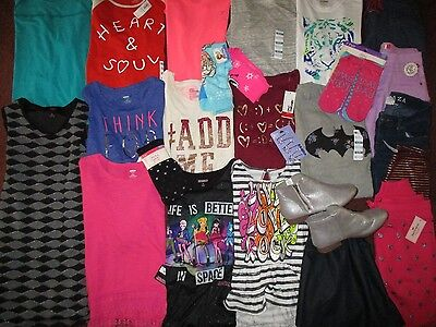 Girls Size 12 BACK TO SCHOOL Lot NAME BRAND Clothes & Outfits NEW!!