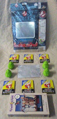 1985 Ralston GHOSTBUSTERS Cereal Box Bundle Lot w/ VHS, Cards, Hologram & More!
