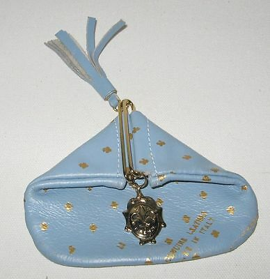 Vintage (?) Firenze Blue Leather Coin Purse-Italy