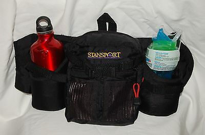 STANSPORT WAIST PACK/  Hiking pack, sports pack, belly pack black