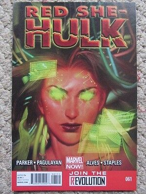 Red She-Hulk #61 (2013) 4th issue, Pagulayan art, NM-