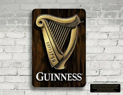 Guinness: Harp 3-D MDF Wall Sign
