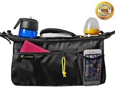 LUKLING Universal Smart Stroller Organizer Bag with 2 Cup Holders & Cellphone