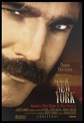 Original 2002 GANGS OF NEW YORK Advance Movie Poster 27x40 DS Daniel Day-Lewis
