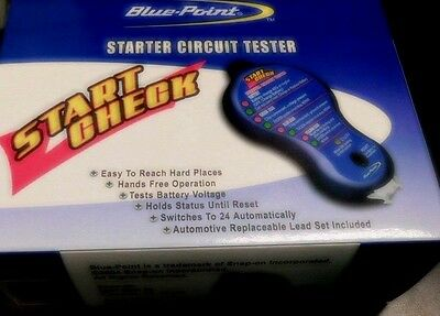 1-Blue-Point By Snap-On Tools Starter Circuit Tester Works On Most12&24 Volt New