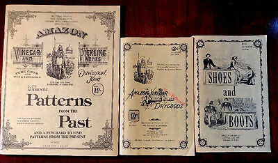 Vintage Catalogues Of Period Clothing and Shoes Illustrations Costumer Reference