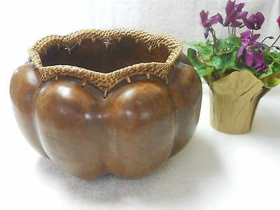 Large Round Wooden Bowl