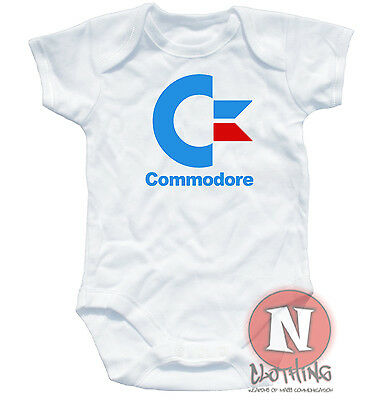 Commodore computers cute Babygrow baby suit gift vest geek chic retro gaming