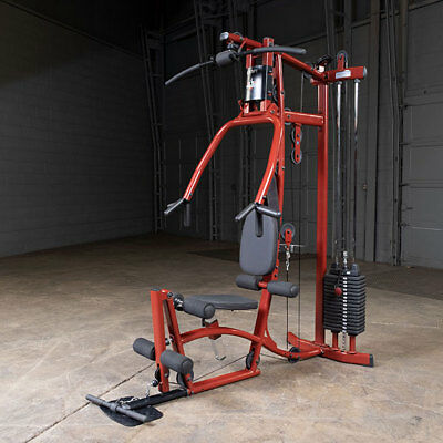 Body-Solid EXM1 Home Gym - Multi Station Fitness Exercise Machine - Red Color