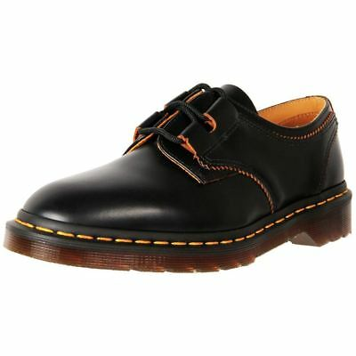 New Dr. Martens Unisex Leather 1461 Gillie Shoe Black Smooth Cheap