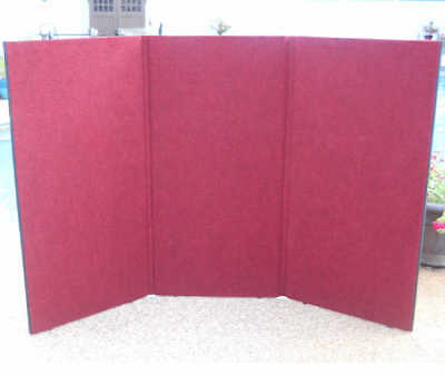 Maroon Classic 3 panel Folding 48t x 70w Tradeshow Tabletop Display Portable