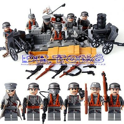 WW2 German Minifigure set of 6 US SHIPPER Army military World War two