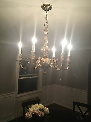 solid brass chandelier. Beautiful condition.