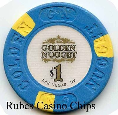 1.00 Chip from the Golden Nugget Casino in Las Vegas Nevada 3 Inlay No R